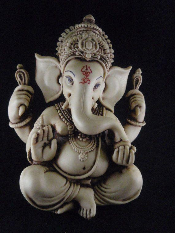 Ganesh statue Ganesha statue Ganesh figurine by KarmaKreationsOM, $32.99