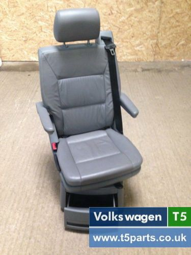 VW T5 Caravelle Swivel Seat,Captain Seat,Middle Row, Full Leather In Grey, [VW T5 PARTS] - £299.00 : VW T5 Parts, Volkswagen Transporter