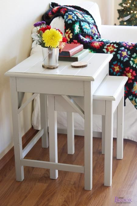 Build your own charming Nesting Side Tables. Free step by step #Plans at Ana-White.com
