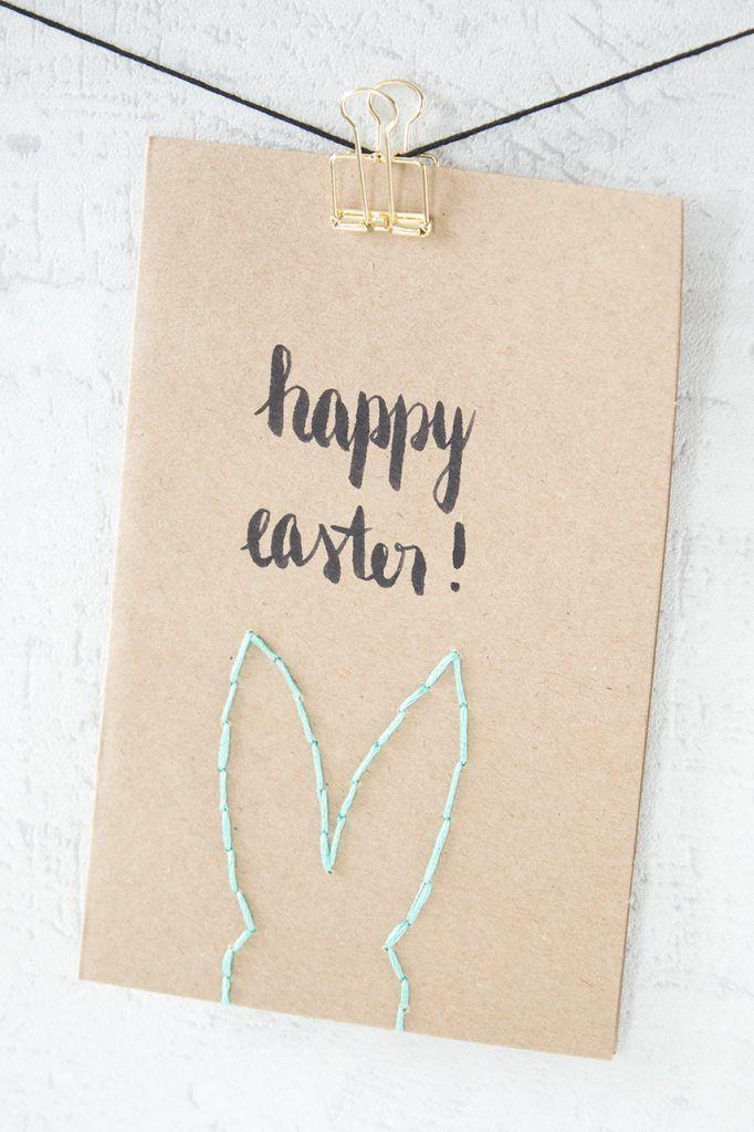 Schkichte aber unglaublich süße Osterkarte basteln l happy easter bunny card