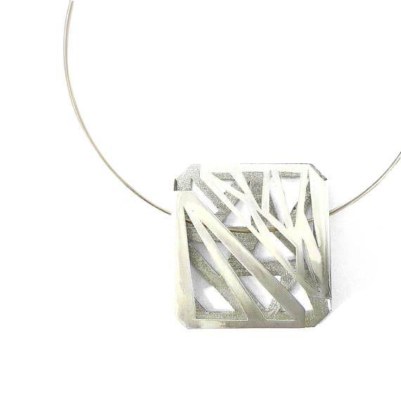 Collar de plata esterlina de ánimo bipolar joyería