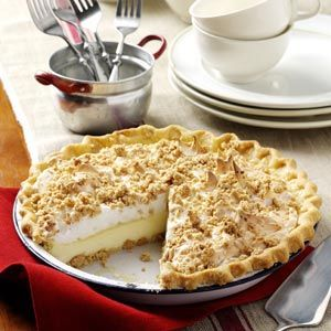 Peanut Butter Meringue Pie Recipe from Taste of Home -- shared by Judy Hernke, Mundelein, Illinois