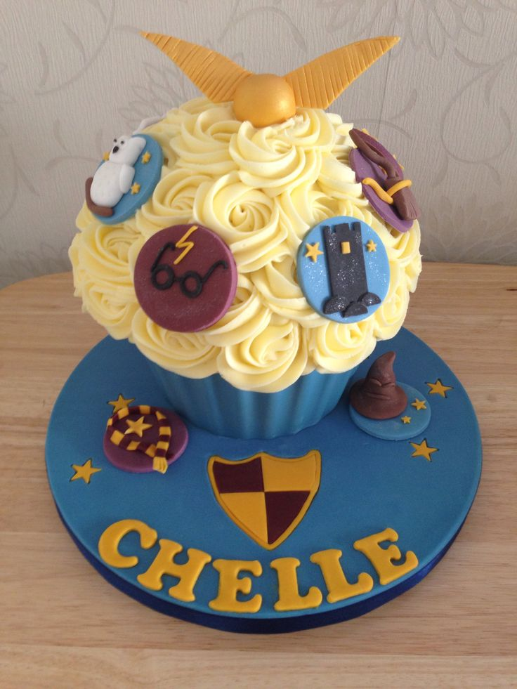 Harry Potter Giant Cupcake For A Cake Smash