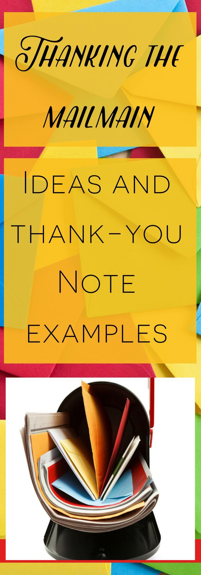 how to write thank you notes for wedding gift cards%0A Thank you note to mailman examples  and other ideas on how to thank the  mailman