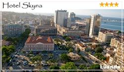 O Skyna Hotel foi inaugurado em Setembro de 2009, sendo um hotel moderno de 4 estrelas que alia na perfeição a qualidade ao conforto, encontra-se localizado no coração histórico da cidade de Luanda. O Hotel dispõe de 220 quartos duplos, 11 suites com 100m² cada, 1 penthouse, 4 apartamentos T1 e 2 Apartamentos T2. Os quartos são decorados com todo o requinte de um hotel de luxo. No lado ocidental do Hotel, estão disponíveis quartos com relaxantes vistas sobre a Baia de Luanda.