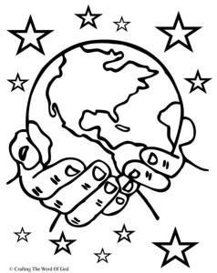 God The Creator - creation coloring page