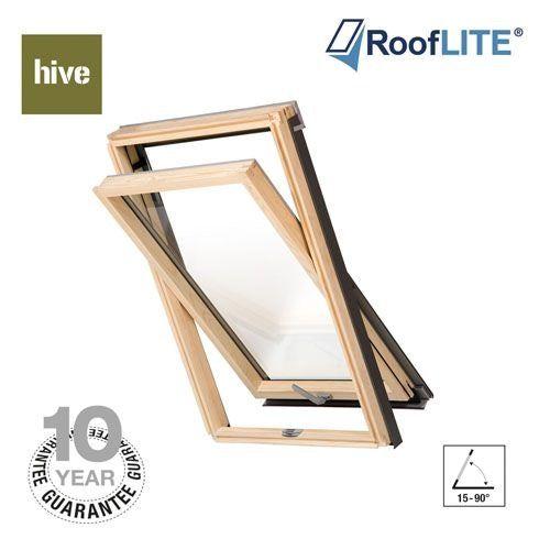 RoofLITE Hive Centre Pivot Pine Roof Windows - 78cm x 118cm
