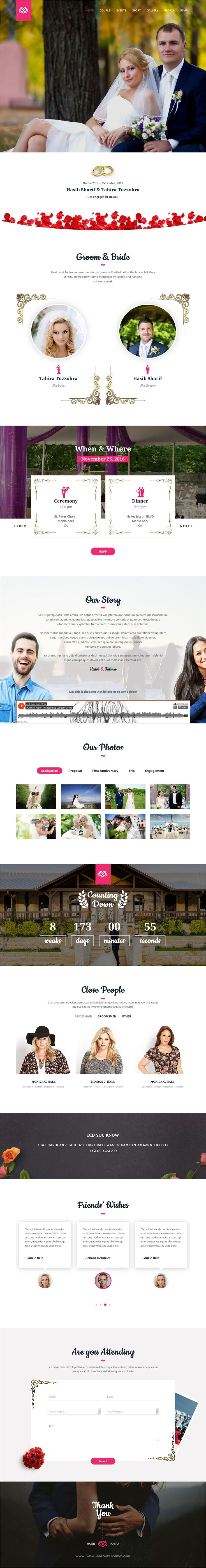 Rose is clean and modern design responsive #HTML5 template for #wedding event website with 20+ homepage layouts download now > https://themeforest.net/item/rose-wedding-responsive-html5-template/19931553?ref=Datasata