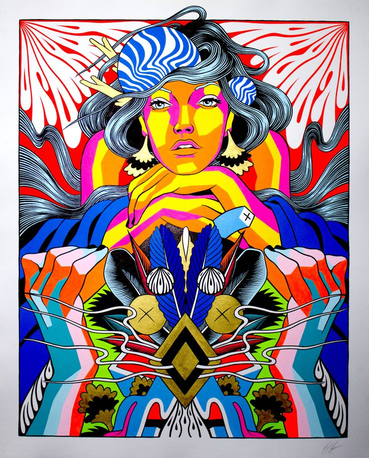 Check out this piece by Bicicleta Sem Freio.  These artists kick so much tail.  We love the colors and shear bad assness of this.
