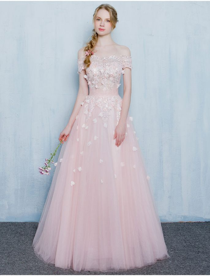 1950s Vintage Inspired Style Off Shoulder Butterfly Lace Prom Dress