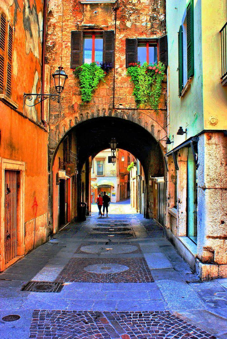 Medieval Portal, Brescia, Lombardy, Italy