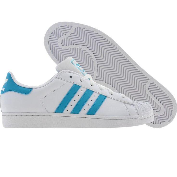 Adidas Womens Superstar 2 W (runnninwhite / super cyan). $69.99
