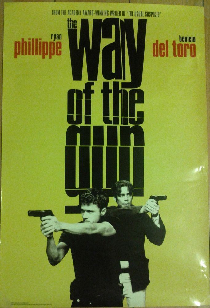 "Movie Poster ""Way of the Gun"" Benico Del Toro and Ryan Phillipe"