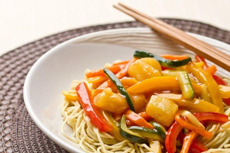 Wok de légumes sauce aigre-douce au Ketchup via @cuisineaddict