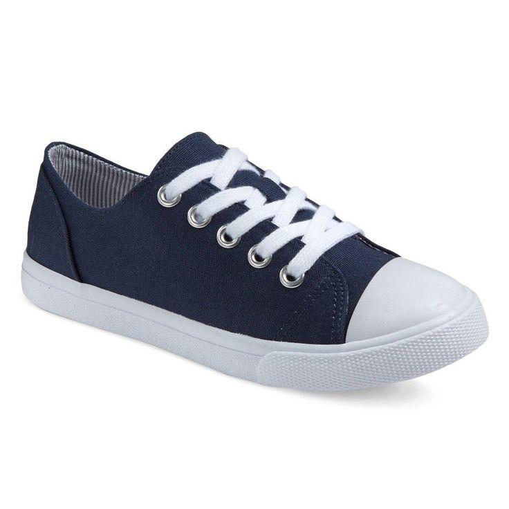 Girls' Brielle Cap-Toe Sneakers Cat & Jack - Navy (Blue) 4, Girl's