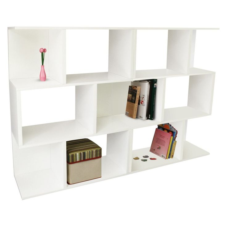 Room Dividers Bookshelves With Classy White Double Madison Bookcase Design For Room Divider Bookcase West Elm