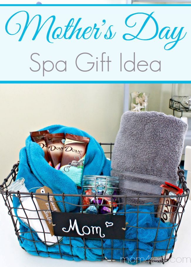 Simple Mother's Day Gift Ideas: Spa Day basket filled with Chocolate and #Vitabath! #MothersDay