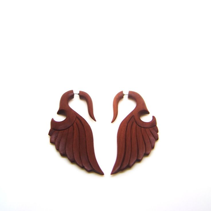 This organic jewelry now available on our store    Please visit: http://ayutribal.com/products/fake-gauge-earrings-saba-wood-wing-cheater-plugs-ac027?utm_campaign=social_autopilot&utm_source=pin&utm_medium=pin  #ayutribal #earrings