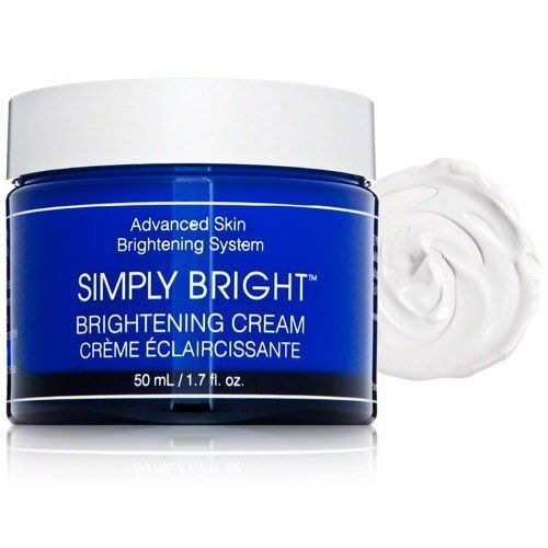 Simply Bright Brightening Cream 1.7 fl oz. by Simply Bright. $75.00. Simply Bright Brightening Cream fades discoloration on the face and around the eyes, as well as reduces fine lines and wrinkles for a more radiant appearance. Formulated with a patented N-H-A Complex, it's been proven to even the skin tone and smooth skin texture in as little as 4 weeks.
