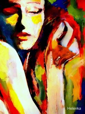 "Saatchi Online Artist Helena Wierzbicki; Painting, ""Tuning"" #art"