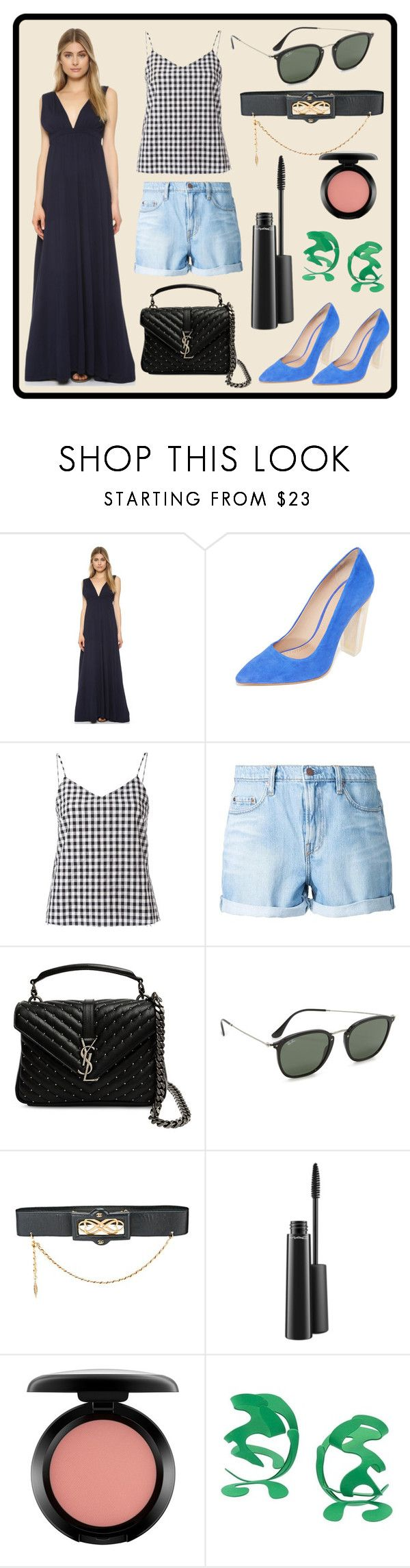 """""""Monday Special"""" by cate-jennifer ❤ liked on Polyvore featuring Bobi, Tory Burch, Marques'Almeida, Nobody Denim, Yves Saint Laurent, Ray-Ban, Chanel, MAC Cosmetics and Rosie Assoulin"""
