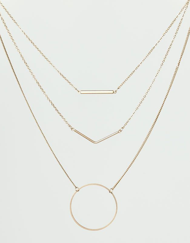 Minimal + Classic: PACK OF 3 GEOMETRIC NECKLACES