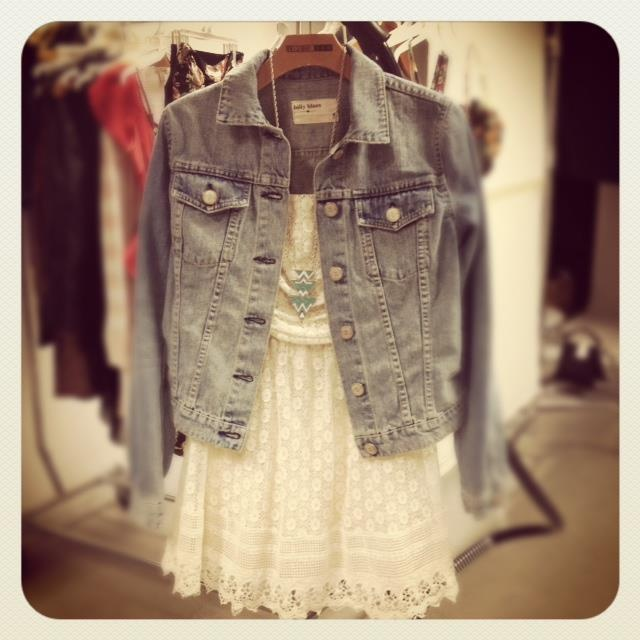 Denim + Lace = YES!