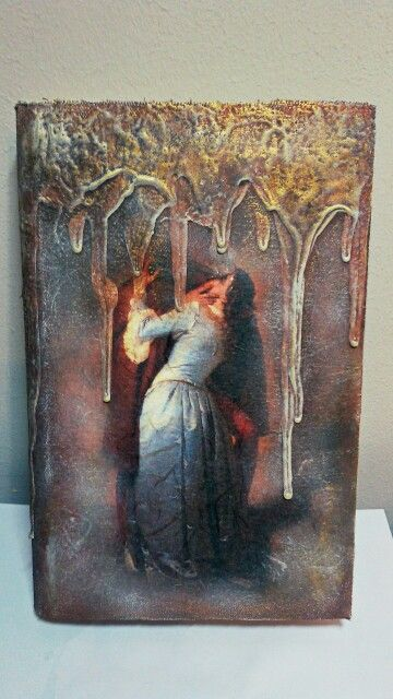 Book box tears Pentart rice paper decoupage Romeo and Juliet