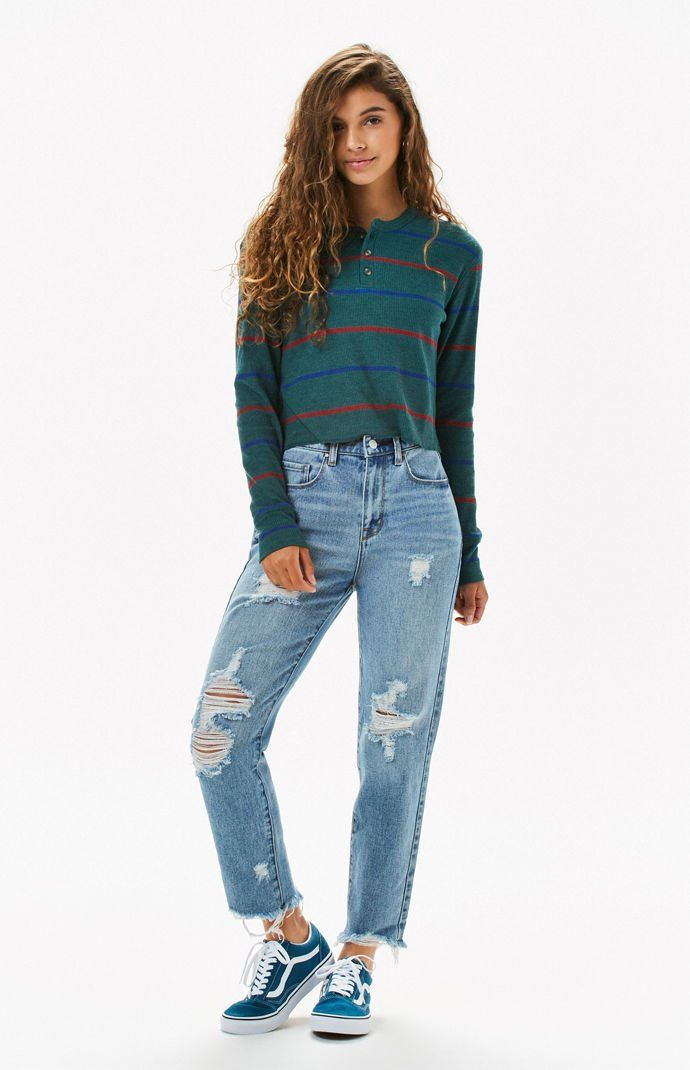 20b1659344 Me To We Striped Jarred Waffle Knit Long Sleeve T-Shirt | Pac Sun |  Pinterest | Waffle knit, T shirt and Pacsun