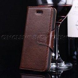 Étui iPhone 5 cuir luxe marron business sur www.etui-iphone.com