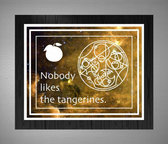 Doctor Who Tangerine Quote Metallic Art by BlackRiverArtHouse