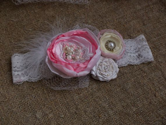 Девочка-обогатительного Девочка туалетный держатель ребенка розовые волосы луки розовые кружева цветок туалетный Новорожденный Оголовье