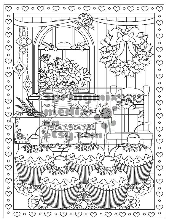 66 Best Images About Cupcakes Cakes Coloring Pages For