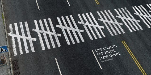 """""""Life counts for much. Slow down."""" (Ukraine)."""
