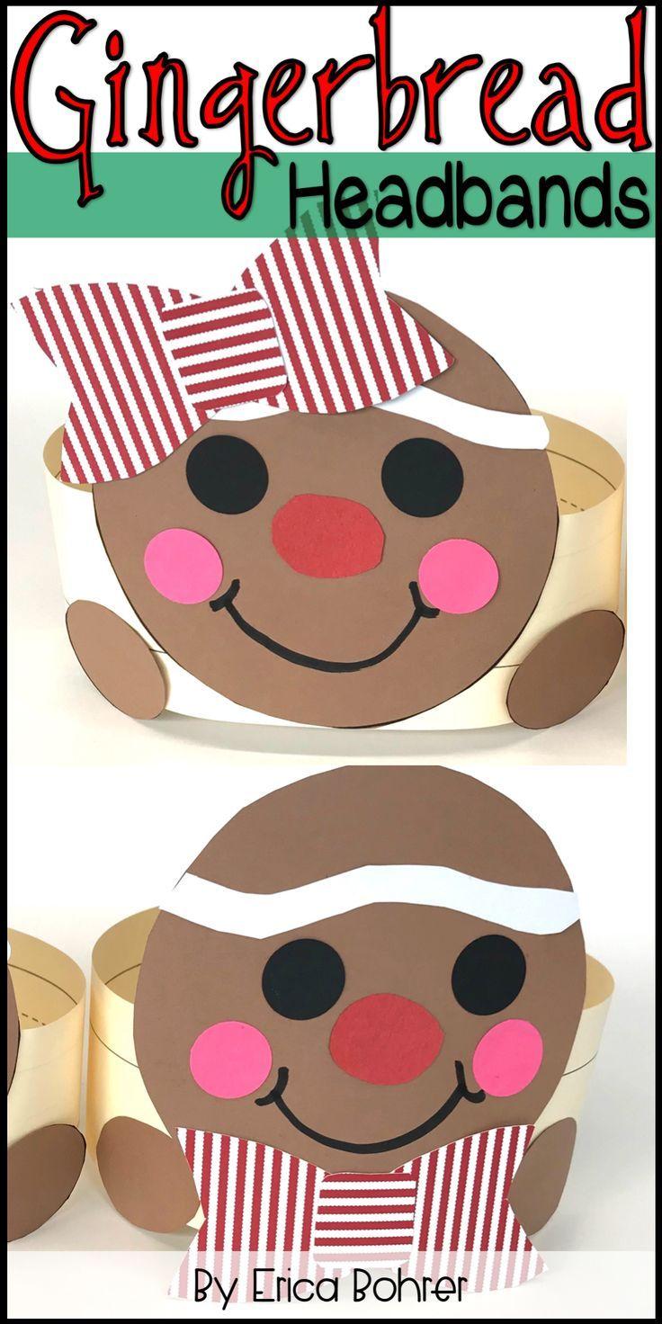 Gingerbread Headbands Gingerbread Crafts Preschool Christmas