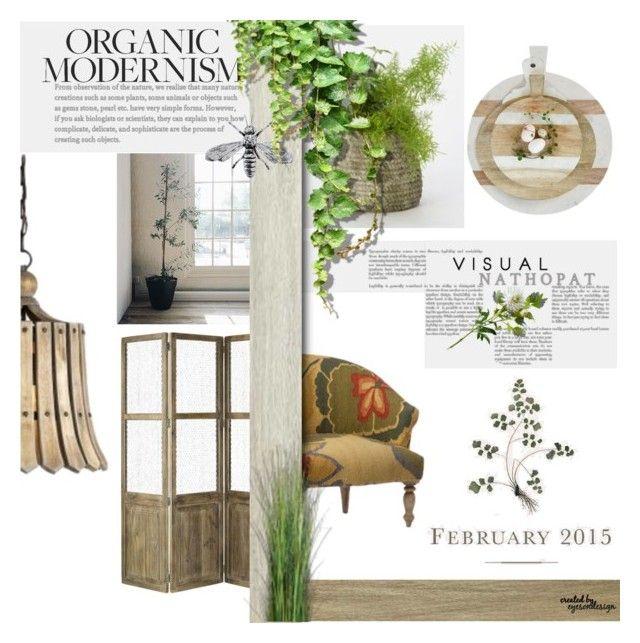 """Template Challenge ~ Organic Modernism/Visual Nathopat"" by eyesondesign ❤ liked on Polyvore featuring interior, interiors, interior design, home, home decor, interior decorating, modern, interiordesign and TastemastersDesignGroup"