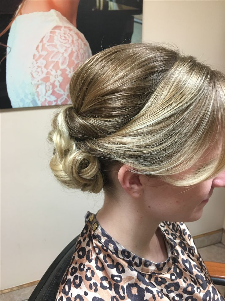 Formal updo for a wedding on long blonde hair | Long ...