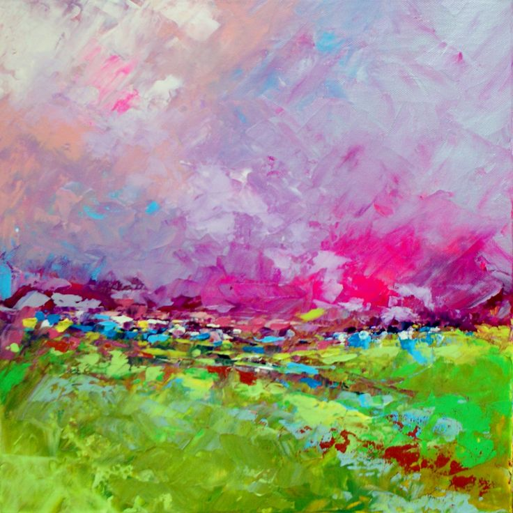 Abstract Landscape 'Remember Me' - acrylic painting on canvas -