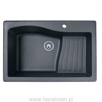 FOLK Hansloren zlewozmywak granitowy 1-komorowy 839x558 mm głęboki czarny metalik - FOCN-1WMB  http://www.hansloren.pl/Zlewozmywaki-granitowe/Zlewozmywaki-1-komorowe/HANSLOREN