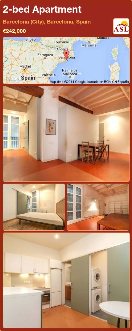 2-bed Apartment in Barcelona (City), Barcelona, Spain ►€242,000 #PropertyForSaleInSpain