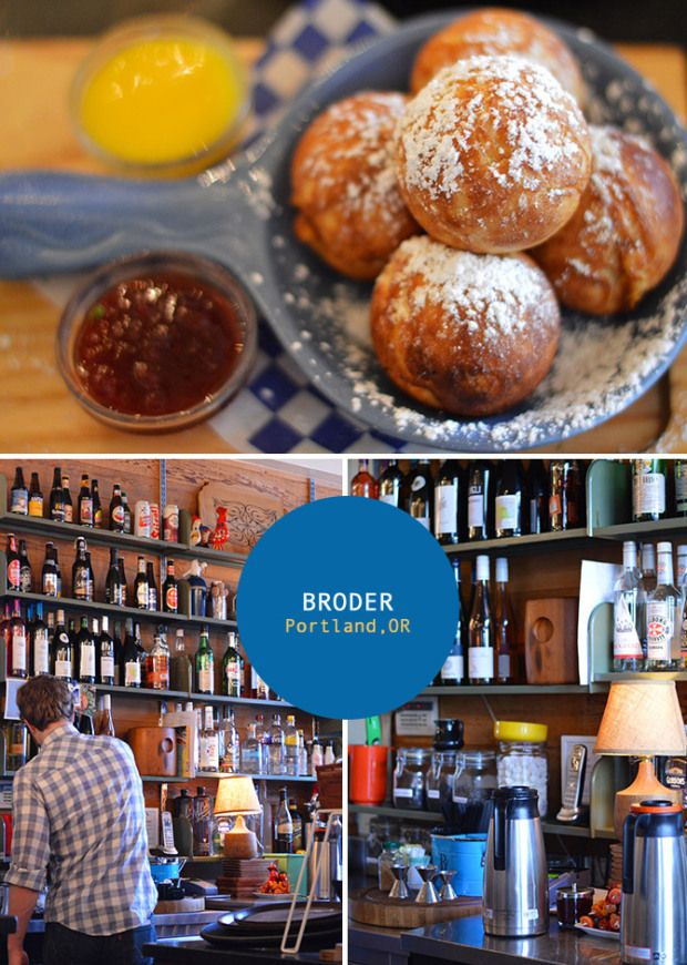 Broder on Clinton. A swedish cafe in Portland, OR.  Had brunch here today. Lovely food. Next time, I must try their Danish pancakes that look like pastry balls dipped in sauces.
