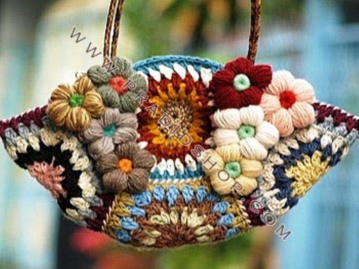 Buy Yarn To DIY http://www.aliexpress.com/store/1687168 Deliziosa borsa crochet!