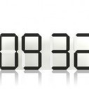 Horloge digitale Black and White de Vadim Kibardin
