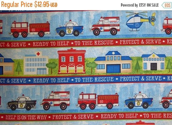 YEAR END SALE Help is On the Way~Stripe~Cotton Fabric, Quilt, Child, by Wilmington Prints Fast Shipping, Ch343