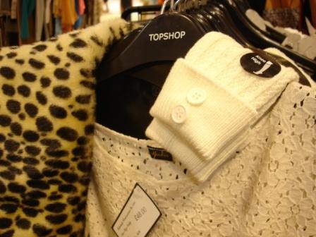 leopar coat, cooton dress, high knee socks by fashion designer/Stylist Marlen Vitorno