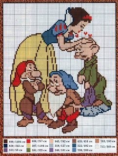 sandylandya@outlook.es  A page of snow White and the 7 Dwarfs