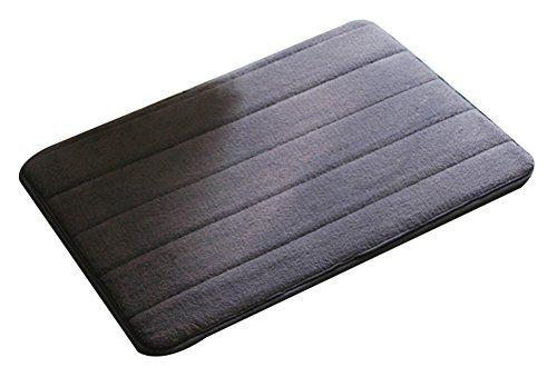 Ilishop Non Slip Bath Rugs Memory Foam Bath Mats Sliver Grey 15 7