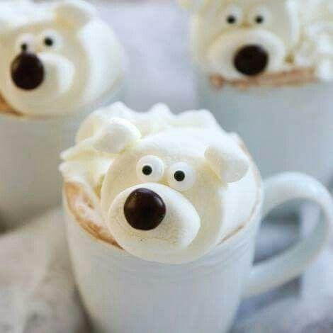 warme chocolademelk ijsbeer