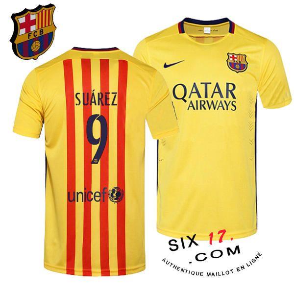Sponsor maillot exterieur fc barcelone 2015 2016 SUAREZ site officiel barcelone