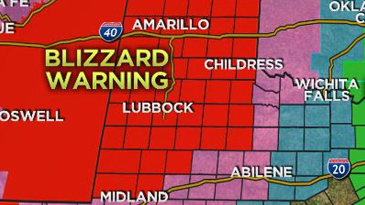 Texas Panhandle Faces 15 Inches of Snow, 'Historic